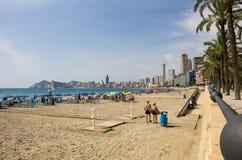 海滩Benidorm 图库摄影