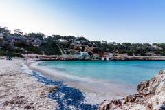 海滩Cala Llombards 图库摄影