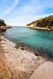 海滩Cala Llombards 免版税库存照片