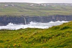 海滩clare县doolin爱尔兰 库存照片