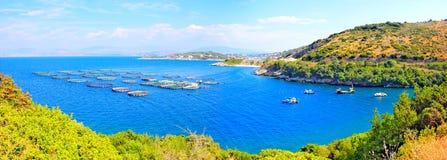 海滩corfu希腊kassiopi 免版税库存图片