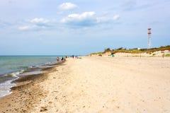海滩Darsser Ort 免版税库存图片