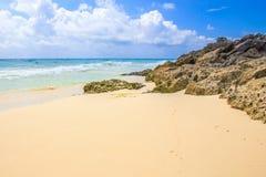 海滨del卡门海滩,墨西哥 免版税图库摄影