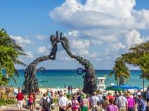 海滨del卡门纪念碑尤加坦墨西哥 免版税库存图片
