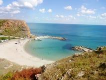 海滩Ezerets和Shabla湖在保加利亚 库存图片