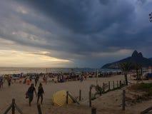 海滩ipanema 库存照片