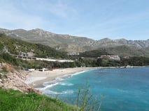 海滩Kamenovo,黑山 免版税库存照片