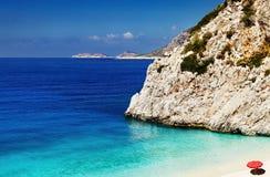 海滩Kaputas,土耳其 免版税库存照片