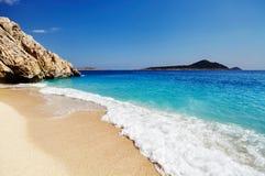 海滩Kaputas,土耳其 免版税库存图片