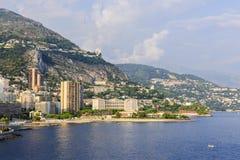 海滩larvotto摩纳哥 免版税库存图片