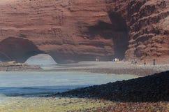 海滩Legzira在摩洛哥 免版税库存照片
