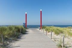 海滩Maasvlakte入口 库存图片