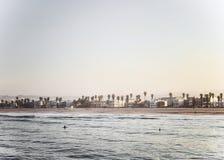 海滩monica ・圣诞老人 库存图片