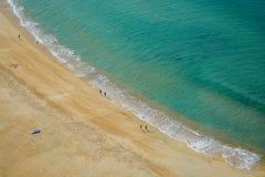 海滩/Nazaré葡萄牙 图库摄影