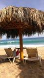 海滩palapa 库存图片