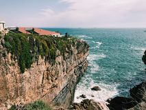 海洋peniche葡萄牙次幂 库存图片