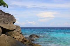 海滩Phang Nga的Similan海岛 库存图片