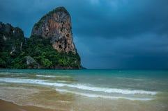 海滩railay泰国 免版税库存照片
