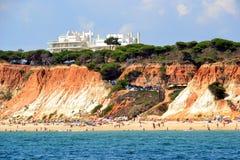 海滩Rocha Baixinha 免版税库存照片