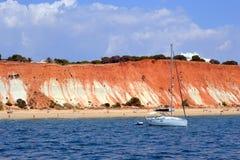 海滩Rocha Baixinha 免版税库存图片