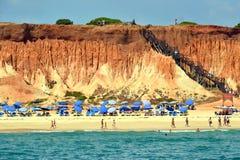 海滩Rocha Baixinha Leste 免版税库存图片