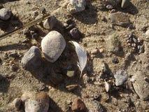 海滩sand.summer背景 免版税库存图片