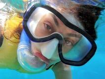 海洋snorkeler 免版税库存图片