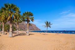 海滩Teresitas在Tenerife -加那利群岛 库存照片
