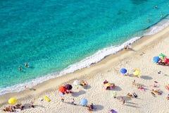 海滩tropea 免版税库存照片