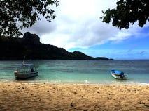 海滩vieuw斐济 免版税图库摄影
