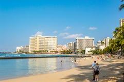 海滩waikiki 图库摄影