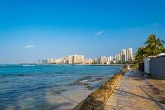 海滩waikiki 免版税库存图片