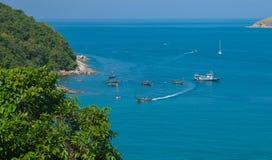 海lampromphep普吉岛泰国 免版税库存图片