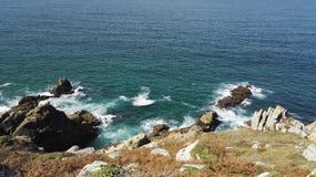 浸入在Finistère海岸的看法,布里坦尼,法国,欧洲,欧洲 免版税库存照片