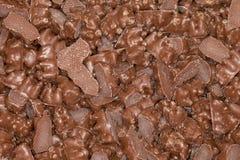 涂上巧克力的胶粘的熊糖果 免版税库存照片