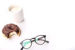 涂了巧克力的多福饼 图库摄影
