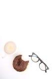 涂了巧克力的多福饼 库存图片