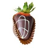 涂了巧克力的草莓 库存照片