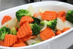 涂奶油的蔬菜 免版税库存照片