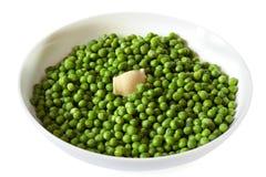 涂奶油的豌豆 库存照片