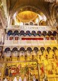 涂油石圆顶烈士教会圣洁坟墓耶路撒冷以色列 库存图片