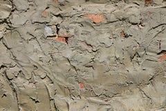 涂灰泥在砖墙上的水泥层数 免版税库存照片
