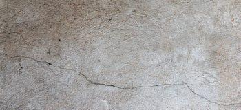 涂灰泥的老破裂被风化的破旧剥了墙壁横幅背景 库存照片