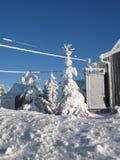 涂灰泥的风景雪 免版税库存照片