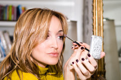 涂药器化妆用品 库存图片