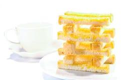 涂黄油的面包 免版税库存照片