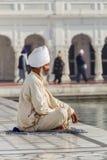 涂去祷告的锡克教徒 免版税库存照片