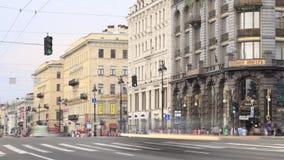 涅夫斯基远景。时间间隔1 影视素材