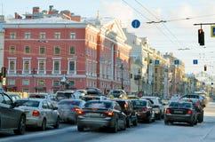 涅夫斯基Prospekt在冬天 库存照片