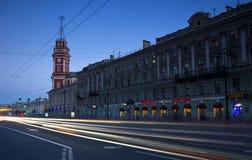 涅夫斯基Prospekt,圣彼德堡,俄罗斯 免版税库存图片